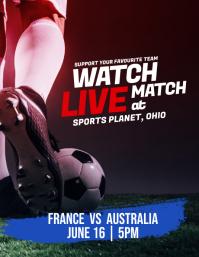 World Cup 2018 Watch Live Match Flyer Poster