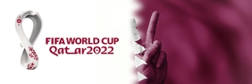 World Cup 2022 Banner Template Ibhana 2' × 6'