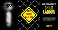 World day against Child Labor, Child Labour Obraz udostępniany na Facebooku template