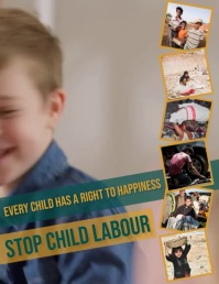 World day against Child Labor Flyer (US Letter) template