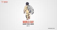 world day against child labor Ibinahaging Larawan sa Facebook template