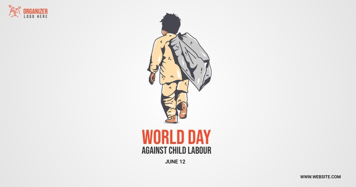 world day against child labor Facebook 共享图片 template