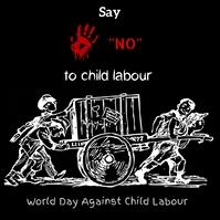 world day against child labour,child labour Сообщение Instagram template
