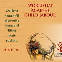world day against child labour,child labour Instagram-bericht template
