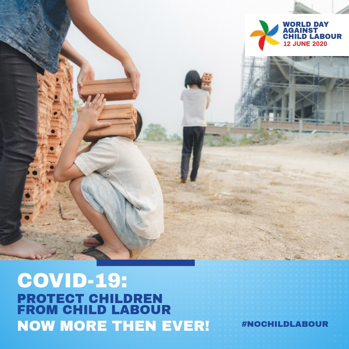World Day Against Child Labour 2020 Instagram 帖子 template