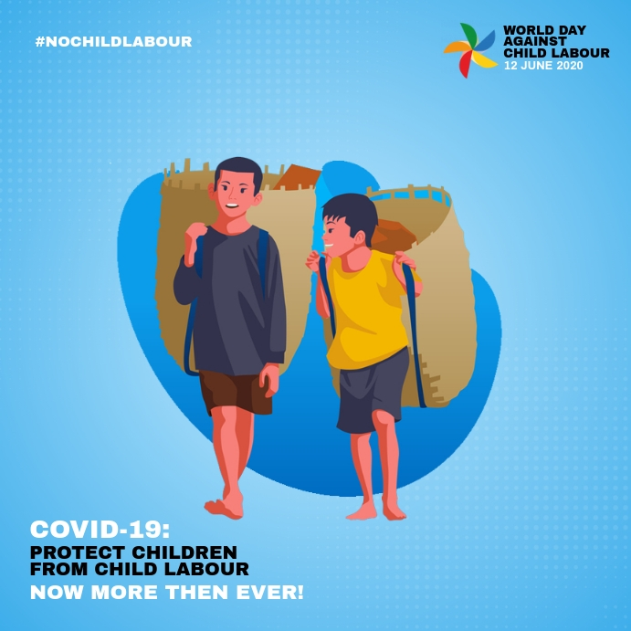 World Day Against Child Labour 2020 Instagram-opslag template
