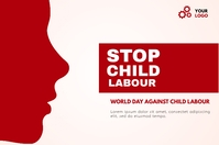 world day against child labour BANNER template