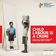 World Day Against Child Labour Message Instagram template