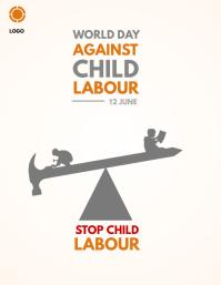 world day against child labour Løbeseddel (US Letter) template
