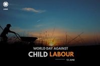 world day against child labour Banier 4'×6' template