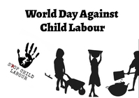 World day against child labour Postkarte template