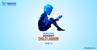 world day against child labour Facebook Shared Image template
