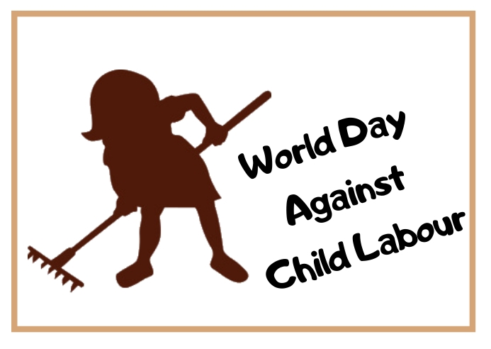 World day against child labour 明信片 template