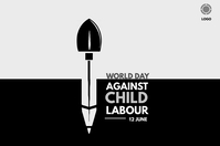 world day against child labour Banner 4' × 6' template