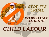 world day against child labour ใบปลิว (US Letter) template