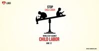 world day against child labour delt Facebook-billede template