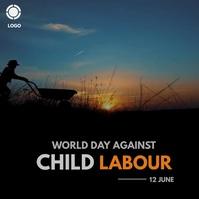 world day against child labour Publicação no Instagram template
