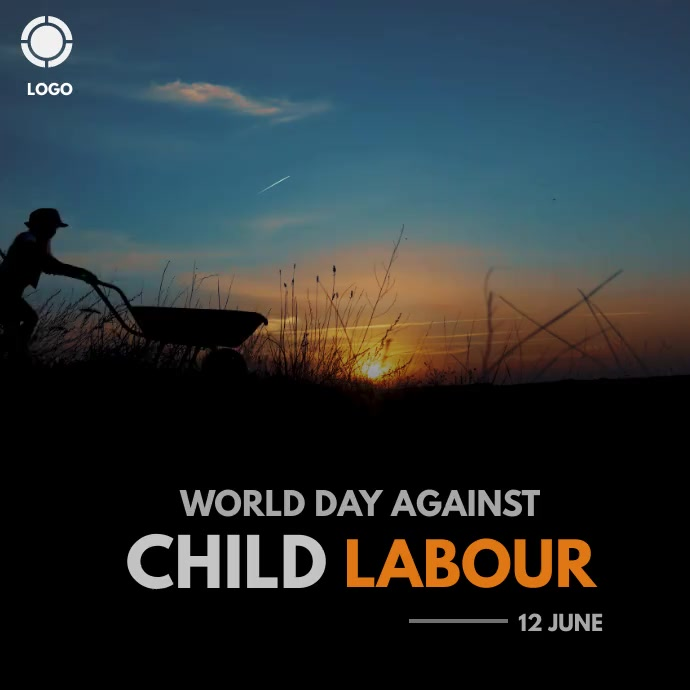 world day against child labour Instagram 帖子 template