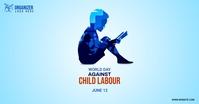 world day against child labour Facebook-advertentie template