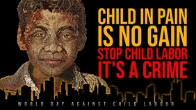 World Day Against Child Labour Template Facebook-omslagvideo (16:9)