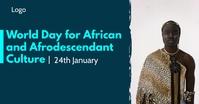 World Day for African and Afrodescendant Cult Изображение, которым поделились на Facebook template