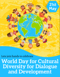 World day for cultural diversity Flyer (US Letter) template