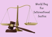 World day for international justice Postal template