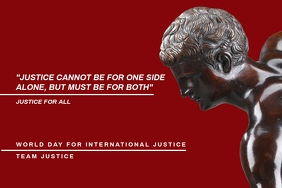 World Day for International Justice Template Affiche