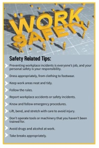 World Day for Safety and Health at Work Poster template