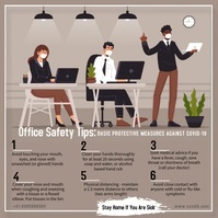 World Day for Safety and Health at Work Instagram-bericht template
