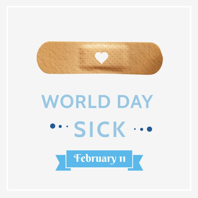 World day of the sick template Квадрат (1 : 1)