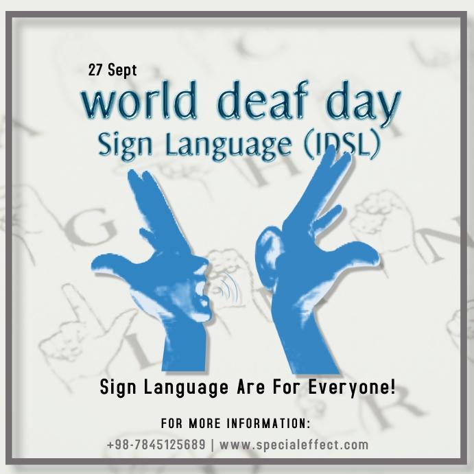 world deaf day Instagram-bericht template