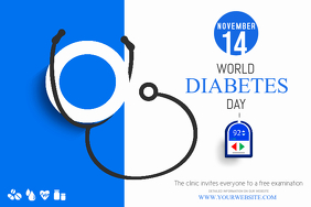 World Diabetes Day Poster Template