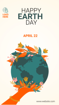 world Earth Day 2021 template Instagram Story