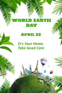 WORLD EARTH DAY April 22 Poster Flyer Templat Cartaz template
