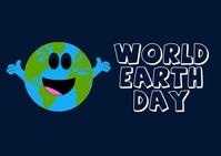 world earth day ไปรษณียบัตร template
