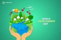 World environment day Flyer Banner 4 × 6 Fuß template