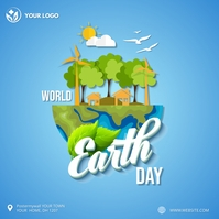 World earth day Instagram post template