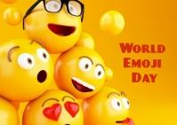 World Emoji Day Postal template