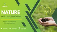 WORLD ENVIROMENT DAY Twitch Banner template
