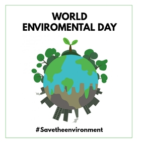 WORLD ENVIROMENTAL DAY Album Cover template