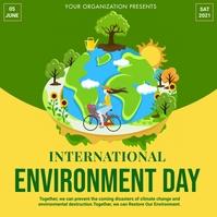 World environment day,event Instagram-bericht template