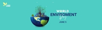world environment day LinkedIn Background Image template