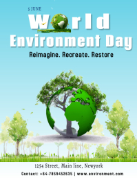 World Environment Day Flyer (US Letter) template