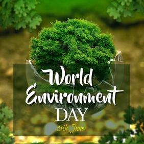 World environment day social media post template