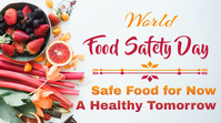world food safety day Twitter Post template