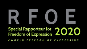 World Freedom of Expression Template Vidéo de couverture Facebook (16:9)