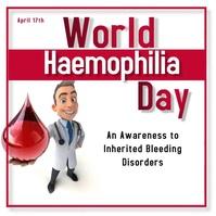 World Haemophilia Day Instagram Post template