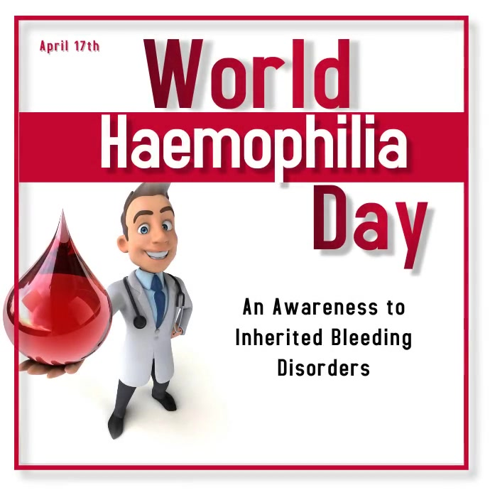 World Haemophilia Day Instagram 帖子 template