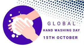 World hand washing day, health ,event Blogkop template